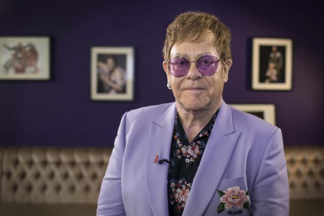Elton John spoke Tuesday during the International AIDS Conference in Amsterdam.