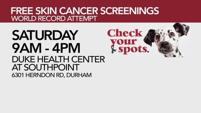 87ac4b50437 Free skin cancer screenings available Saturday in Durham :: WRAL.com