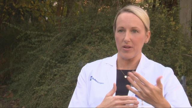Duke plastic surgeon Dr. Sharon Clancy