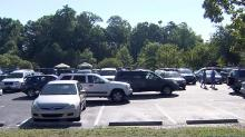 IMAGE: Town of Garner testing facility closes early, runs out of tests
