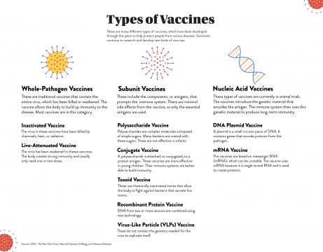 What are the different kind of vaccines?