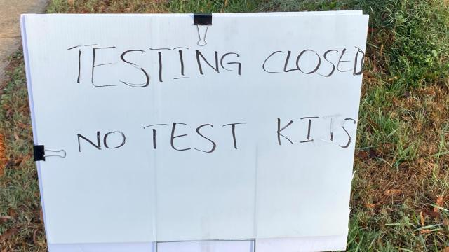 Chaos at Cary COVID test site, police called to direct traffic