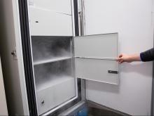 Duke Health's ultra-cold vaccine freezer