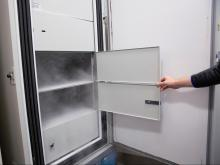 Ultra-cold vaccine freezer at Duke Health