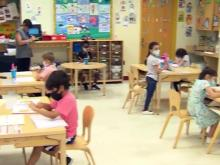 pandemic classroom, classroom generic