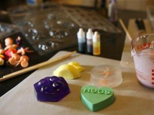 Crafting supplies for soap making are seen in the home of Leah Kramer in Brookline, Mass., Saturday, Nov. 17, 2007. (AP Photo/Mary Schwalm)
