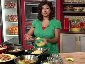 """The Next Food Network Star"" Aarti Sequeira shares her recipe for Shrimp and Pineapple Not-So Po' Boys."