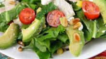IMAGE: Featured recipe from New Homes & Ideas: Spinach Salad with Chicken, Avocado and Goat Cheese