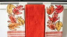 IMAGE: These Handprint Leaf Towels Are An Adorable DIY Craft To Do With Your Kids