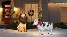 IMAGE: You Can Buy A Light-up Christmas Cow Decoration For Your Yard This Holiday Season