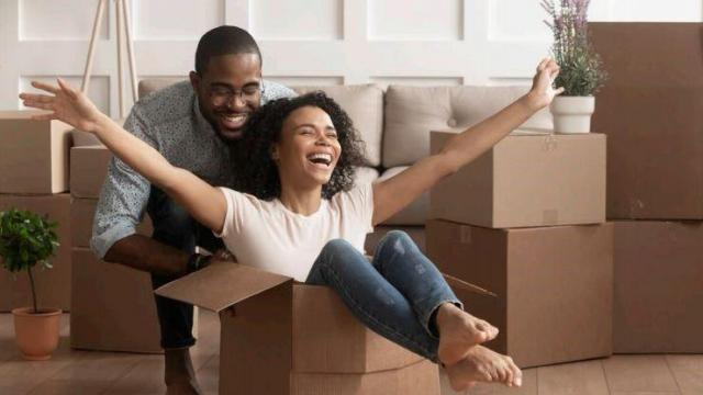Stock photo: People moving in