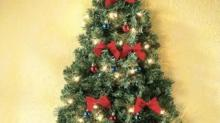 IMAGE: Wall-mounted Christmas Trees Are Perfect Space-savers In Smaller Homes
