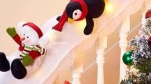 IMAGE: Skip Garland This Year And Turn Your Staircase Into A Snowy Penguin Slide