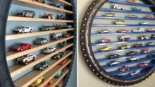 IMAGE: This Etsy Store Sells Shelves For Hot Wheels Made Out Of Tires