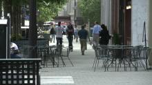 streetscape, pedestrians
