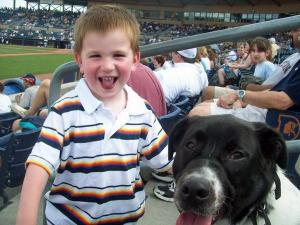 Tracker enjoyed meeting fans at the Thursday, May 27, 2010, Durham Bulls game.