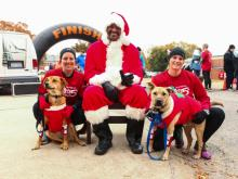Hundreds of pets and people donned their holiday best for a brisk 5K sunday to benefit the SPCA of Wake County. Photos: InBetween the Blinks Photography