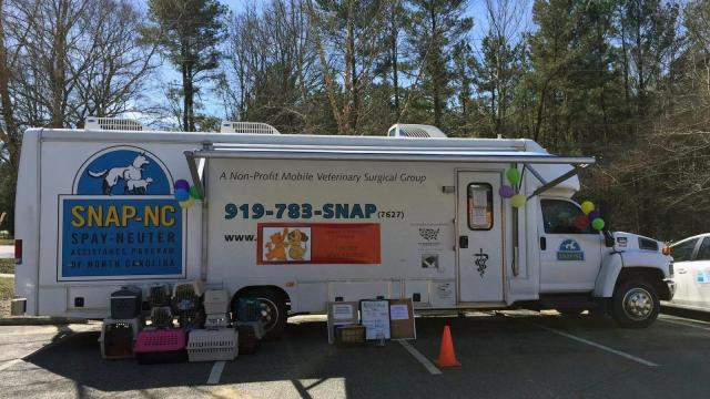 A mobile spay/neuter unit with SNAP-NC (Source: Facebook)