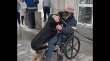 IMAGE: Man Reunited With Rescue Dog That Saved His Life