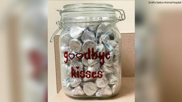 'Goodbye kisses': Ala. vet office's emotional Facebook post goes viral