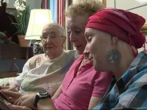 Three generations of cancer survivors (left to right): Doris Miller, Jean Wurster and Liz Wurster.