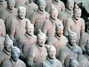 Terra cotta soldiers from the Qin dynasty.