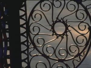Wrought iron fixtures are found throughout Savannah.