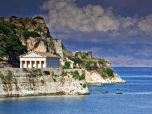 An ancient temple on the island of Corfu