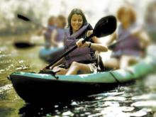 Kayaking and other trips are offered by outfitters.