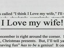 Wife: Husband's Love Letter is 'Best Christmas Gift'