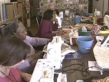 Quilting Studio Embroidered With Laughter