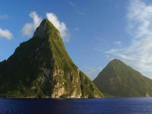 S. Lucia's signature Pitons mountains are both picturesque and awe-inspiring.