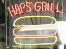 Hap's Grill is famous for its hot dogs