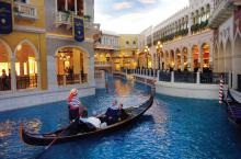 The Venetian's indoor river is reminiscent of taking a gondola ride through the real Venice in Italy.