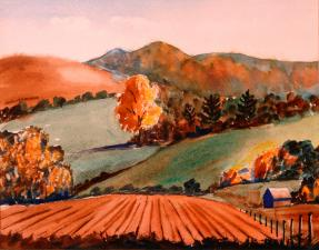 Autumn Fields & Pumpkin Dreams by William Leslie