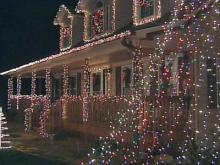Christmas display pounds to the sounds of song