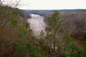 Winter's view of the Cape Fear River in Raven Rock State Park.  Photograph by Bill Leslie