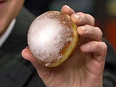 A paczki (POONCH-kee) is a deep fried doughnut made for Fat Tuesday.