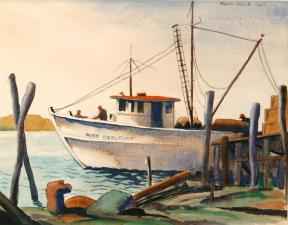 """""""Miss Beaufort"""" - Watercolor by William A. Leslie, Jr."""