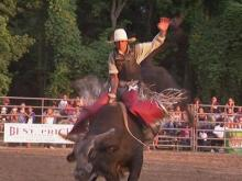 Bull riding and barrel racing in Raleigh