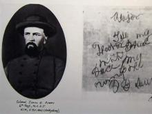 N.C. State Archives houses Civil War memorabilia