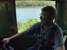 Great Smoky Mountain Railroad engineer Eric Pittman