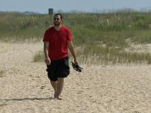 Television news photographer Dustin Etheridge finds his peace on the Basin Trail in the Fort Fisher State Recreation Area.