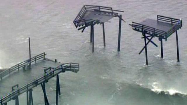 Hurricane Earl did extensive damage to the landmark Frisco pier on Hatteras Island.