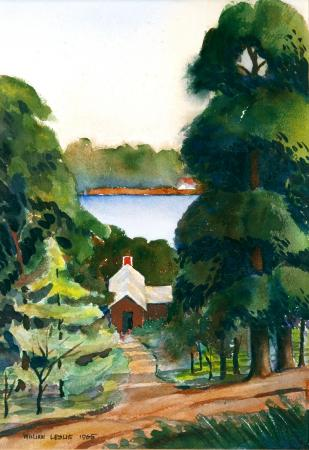 Watercolor by my dad William A. Leslie of Lake James in western NC.