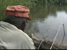 Fishing friends enjoy Roanoke River