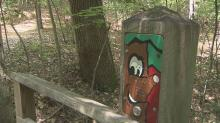 Clemmons State Forest in Johnston County is all about education, so signs, pictures and paintings placed along the paths let the trees and rocks tell their own story.