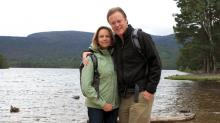 Bill and Cindy Leslie in Scotland