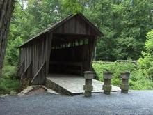 Covered bridge draws romantics, builders, families