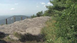 Nearly a mile above sea level, Whiteside Mountain is popular with rock climbers and those seeking awesome views.